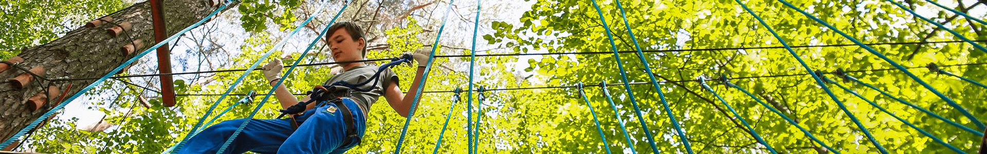 Tarzanija - išbandymai ir laipynės medžiuose