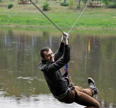 Skrydis per Nemuną 8 - nuotykiu parkas Tarzanija